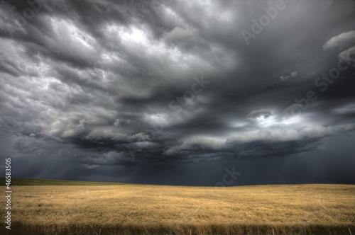 Leinwanddruck Bild Storm Clouds Saskatchewan