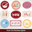 Set vector frame labels Christmas