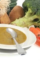 Soupe diététique aux légumes