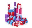 Viele bunt verpackte Geschenke