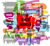 social network concept, vector illustration, with strokes