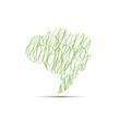 Vector Scribble cover speech in green
