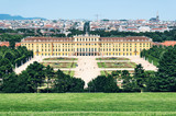 Schönbrunn Palace and `Great Parterre` in Vienna.