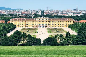 Schönbrunn Palace and `Great Parterre` in Vienna.