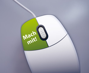 Mach mit! - Button