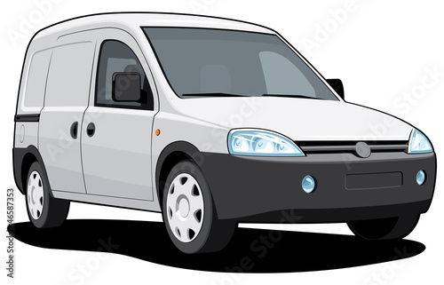 Vector isolated delivery van without gradients