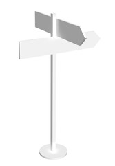 White sign post