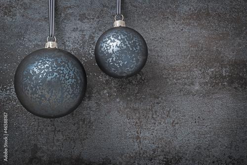 Schwarze Weihnachtskugeln