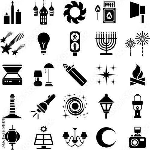 Lights icons