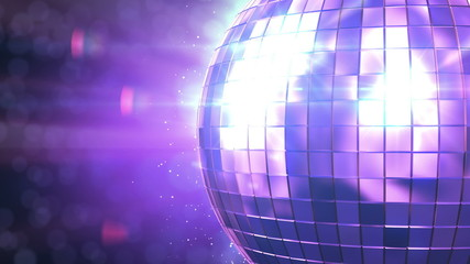 Beautiful Disco Ball Spinning seamless with flares.