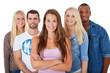 Gruppe attraktiver junger Leute