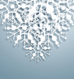 Fototapety Vector Overlapping Snowflakes