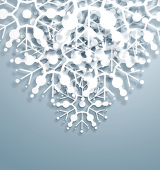 Vector Overlapping Snowflakes
