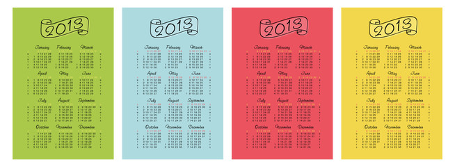 calendar 2013 set