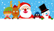 Santa,reindeer,snow man,elf and penguin,Christmas