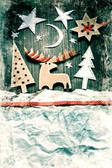 vintage paper christmas decoration