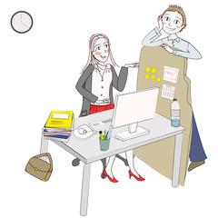 femme moderne au travail