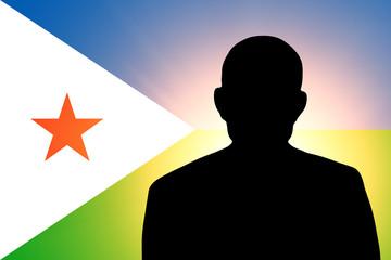 The Djibouti flag