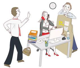 femme moderne dérangée au travail