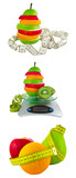 Collage from fruit for a weight loss