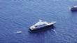 Private yacht anchored in Capri Island