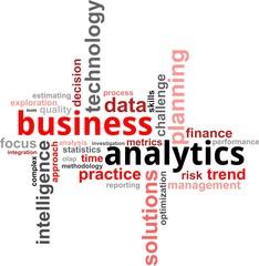 word cloud - business analytics