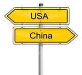 Schilder USA - China