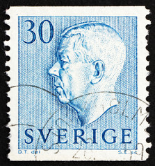 Postage stamp Sweden 1951 King Gustaf VI Adolf