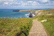 South West Coastal Path Bedruthan North Cornwall