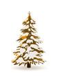 Tannenbaum, Weihnachtsbaum, Ocker, Braun, Tanne, abstrakt, Baum