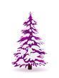 Tannenbaum, Nadelbau, Tanne, Weihnachtsbaum, Baum, Violett, 2D