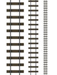 3d Railway tracks set