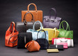 Set of beautiful leather handbags - 46594969