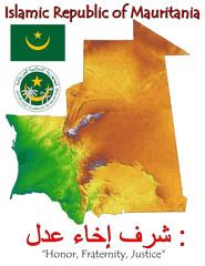 Mauritania Africa national emblem map symbol motto