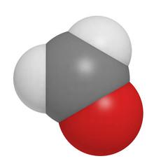 formaldehyde molecule (CH2O), chemical structure