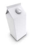 3d Top view of large juice carton