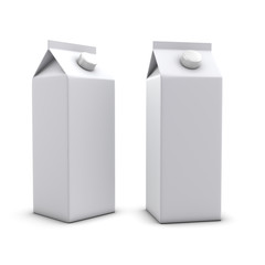 3d Two litre juice cartons
