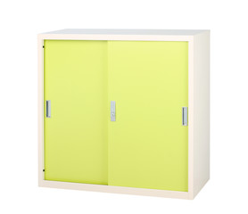 Steel furniture in bright green color great for storage files