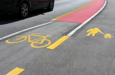 Auto - Fahrrad - Fußgänger