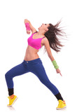 Fototapety energetic young woman dancer