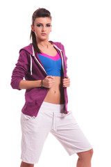 young sporty woman posing
