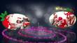 Spiral christmas animation