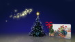 Christmas tree and family's animation