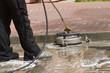 Leinwanddruck Bild - paving cleaning