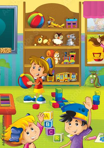 儿童玩玩具卡通