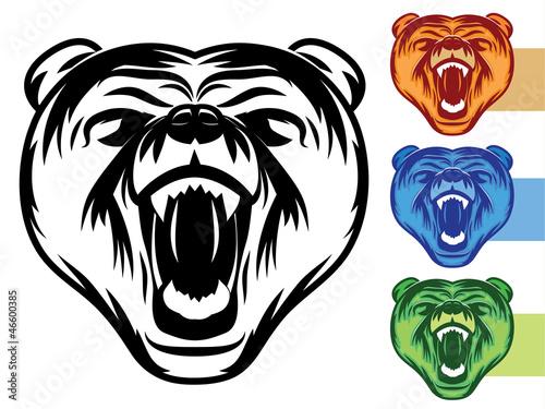 Bear Mascot Icon