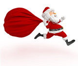 3D Santa running late