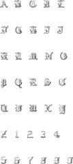 Alphabet - Font - Gothic