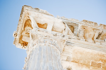 A fragment of the Temple of Apollo in Side. Turkey