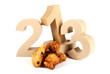 2013 in paper 3D numbers with oliebollen